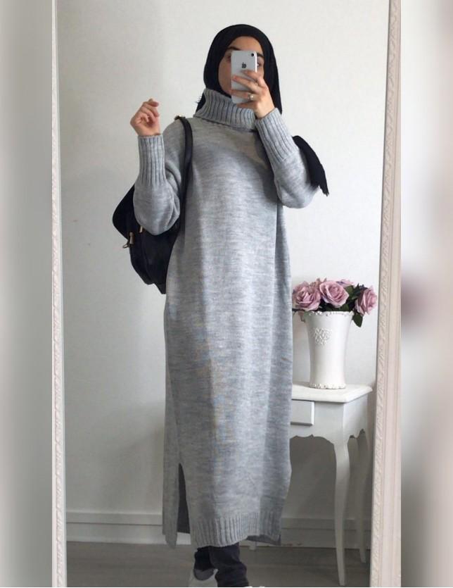 Longue robe pull